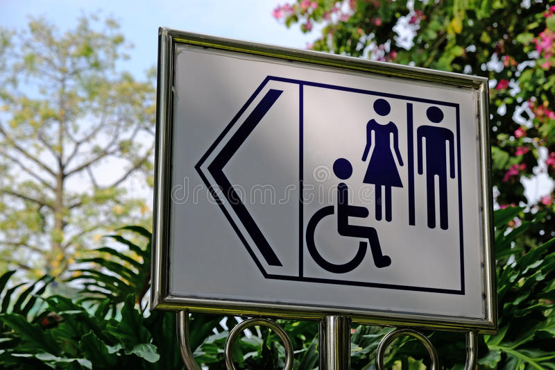 Wheelchair Accessible Sign stock photo