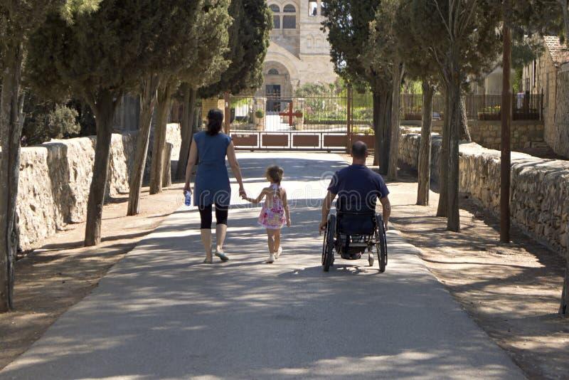 Wheelchair Church Royalty Free Stock Image