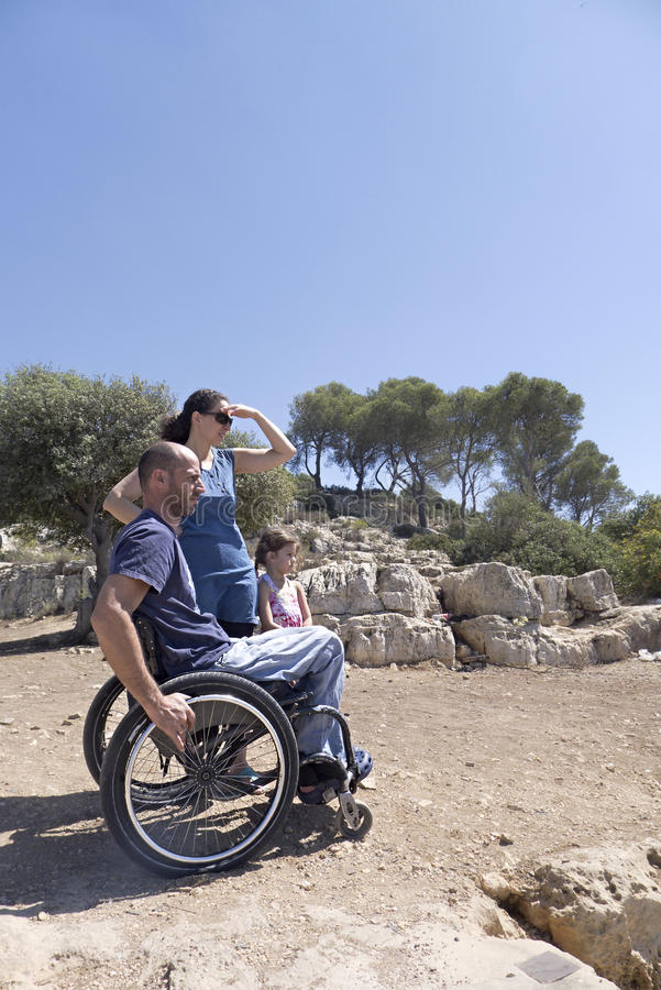Download Wheelchair Family Gaze Stock Images - Image: 27804084