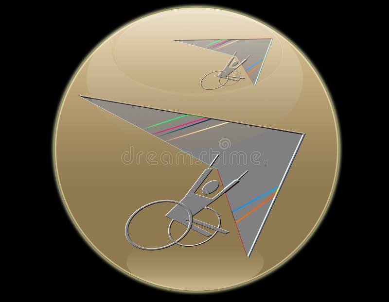 Download Wheelchair flying stock illustration. Illustration of freedom - 10124556