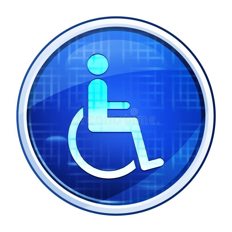 Wheelchair handicap icon futuristic blue round button vector illustration vector illustration