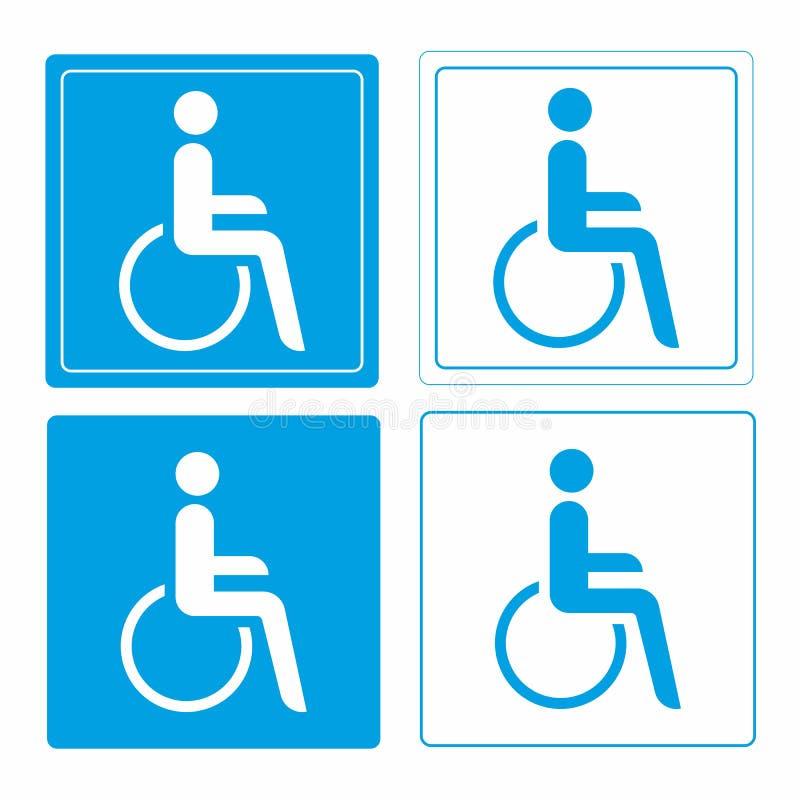 Wheelchair or handicap person symbol stock illustration