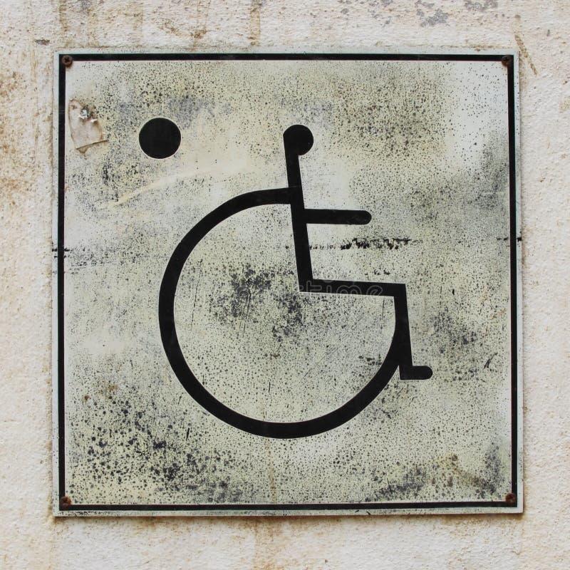 Download Wheelchair Handicap Toilet Sign Stock Photo
