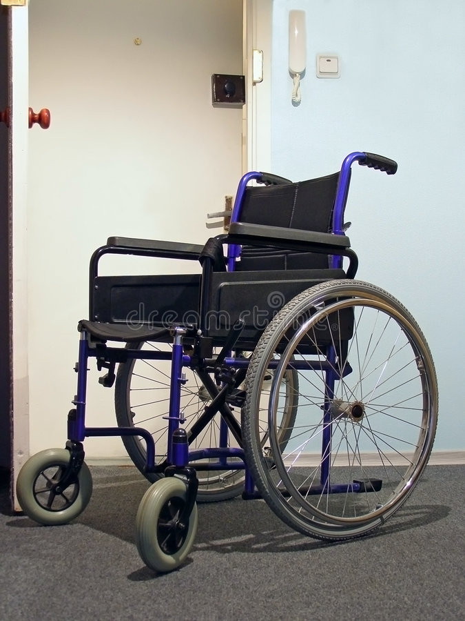 Wheelchair In The Hospital Royalty Free Stock Photos