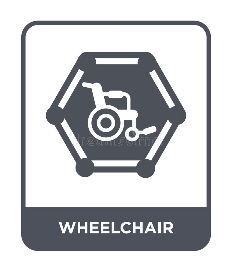 wheelchair icon in trendy design style. wheelchair icon isolated on white background. wheelchair vector icon simple and modern vector illustration