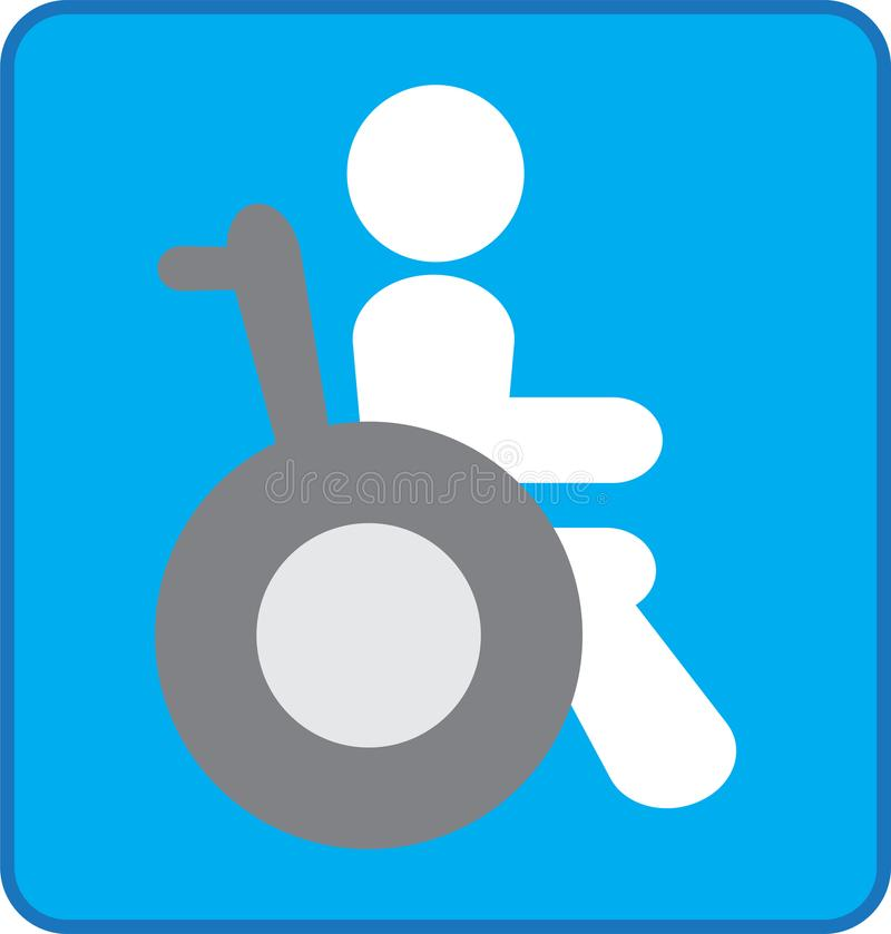 Wheelchair Or Invalid Disabled Icon Stock Illustration