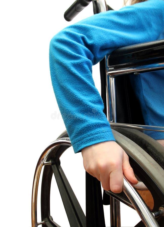 Wheelchair kid stock image