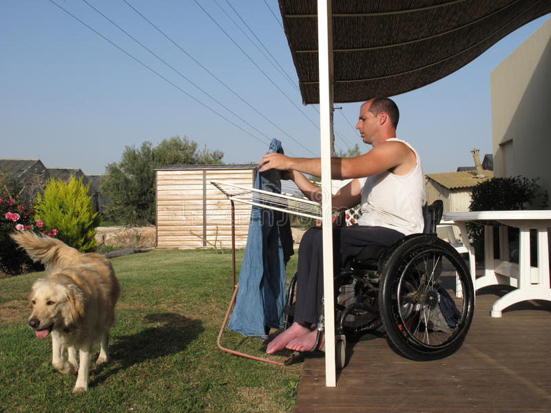 Download Wheelchair Laundry 2 stock photo. Image of exploring - 10562090