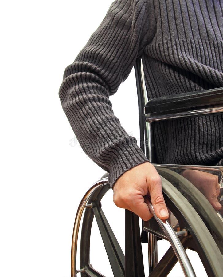 Wheelchair man royalty free stock image