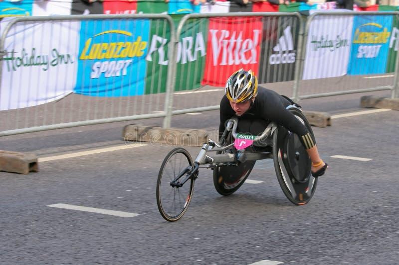 Wheelchair Marathon Racer stock photo