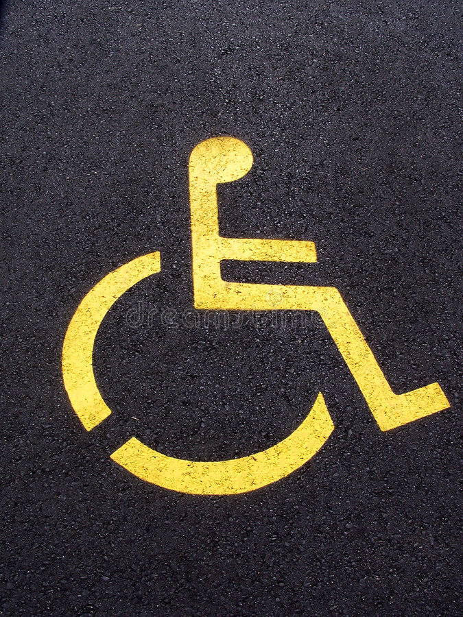 Wheelchair Parking stock photo