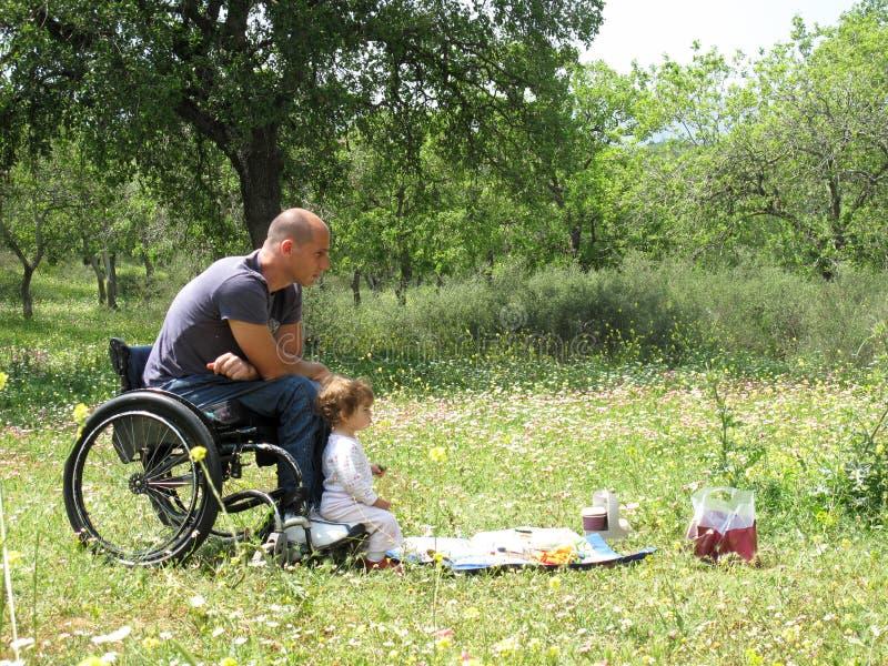 Wheelchair Picnic Stock Photography