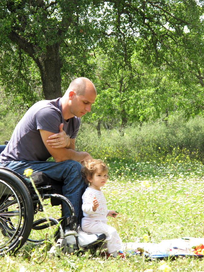 Wheelchair Picnic Stock Images