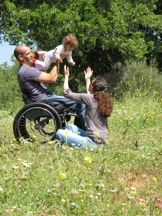 Download Wheelchair Picnic Game stock image. Image of daughter - 10287689