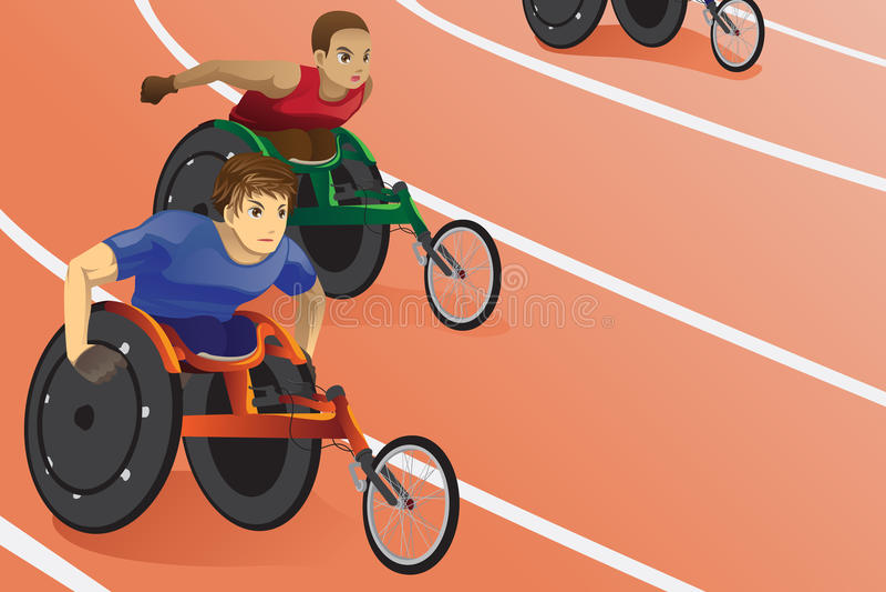 Wheelchair race vector illustration