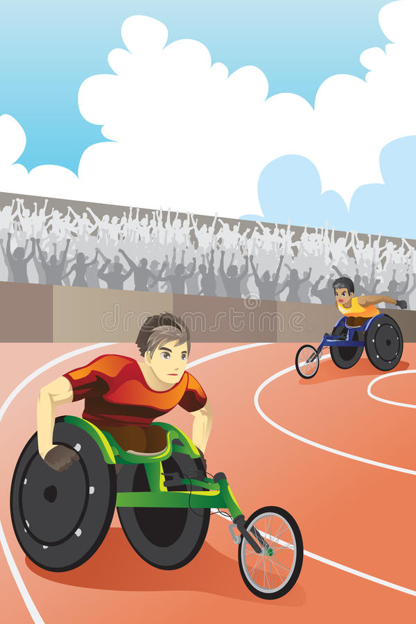 Wheelchair race stock illustration