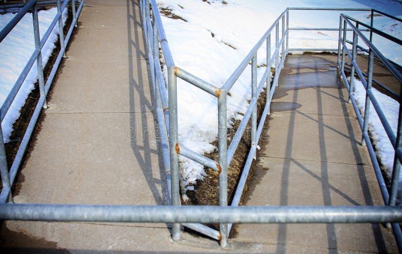 Wheelchair ramp stock photos