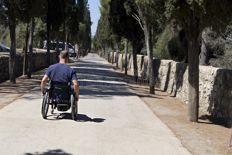 Wheelchair Road advance stock photography
