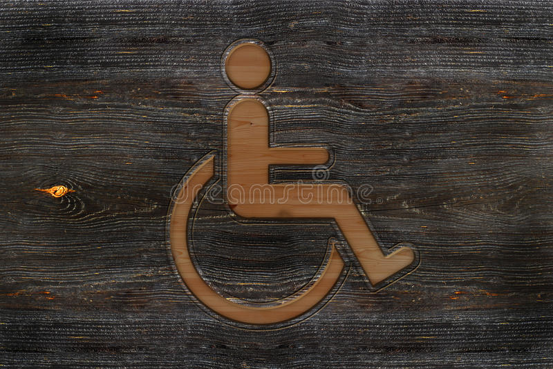 Download Wheelchair sign stock illustration. Image of accessible - 11961073