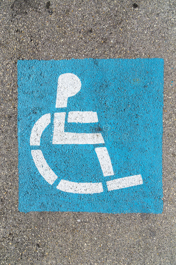 Download Wheelchair Sign At The Parking Lot Stock Image - Image: 32901325