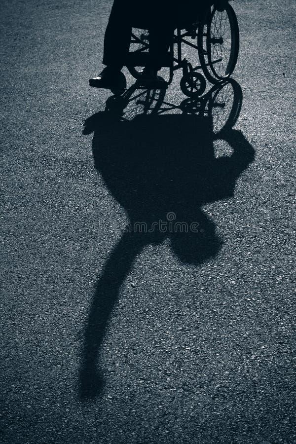 Wheelchair Silhouette royalty free stock photos
