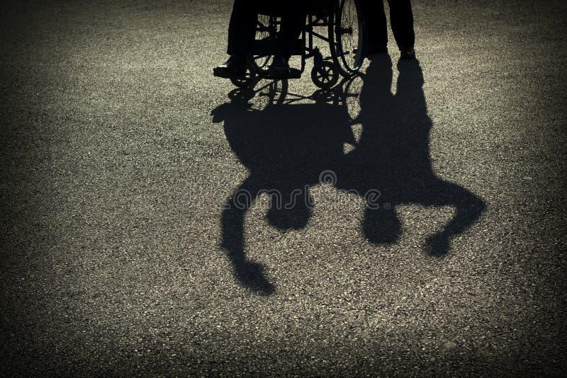 Wheelchair Silhouette stock photo