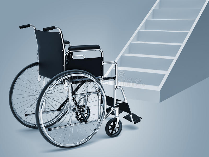 Download Wheelchair and stairs stock illustration. Illustration of hallway - 18703292