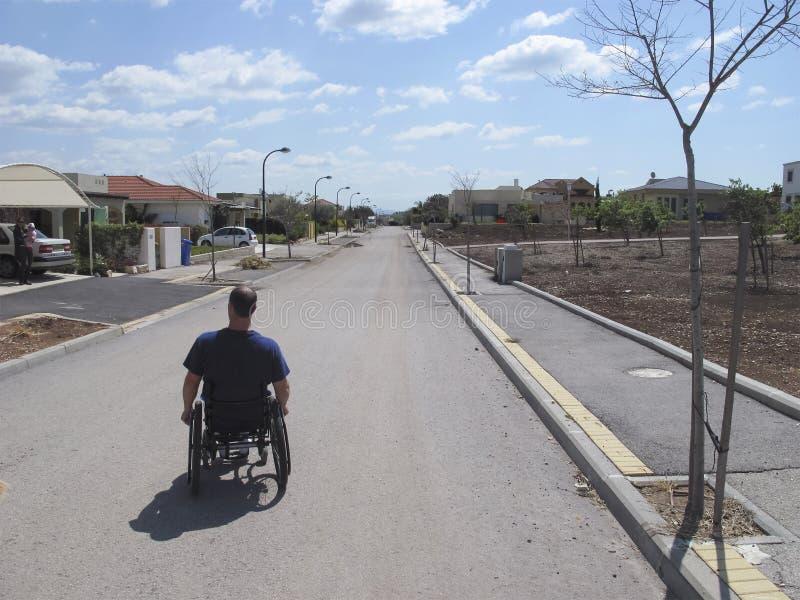 Wheelchair Suburb stock photos