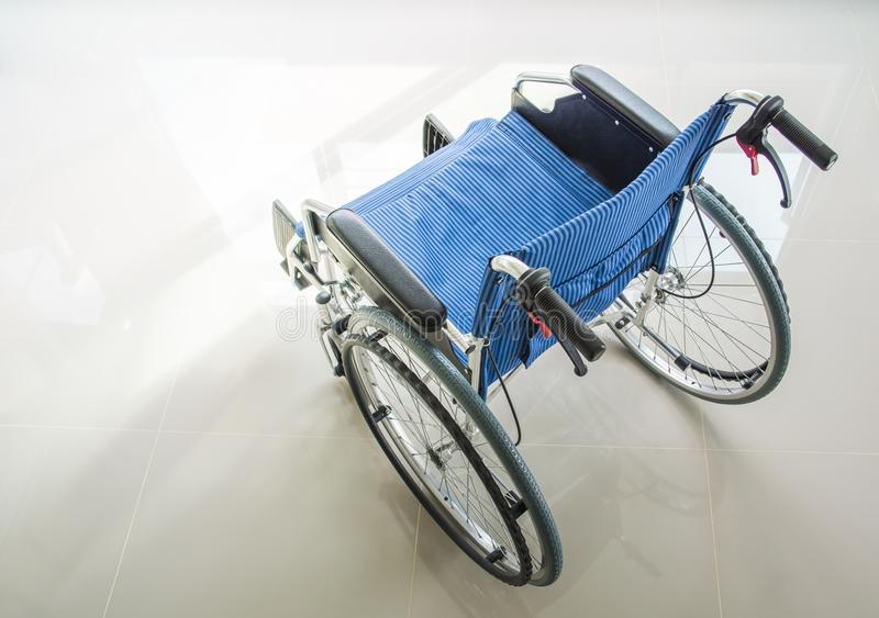 A wheelchair, top view photo royalty free stock image