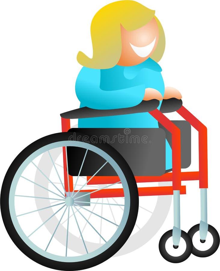 Wheelchair woman vector illustration