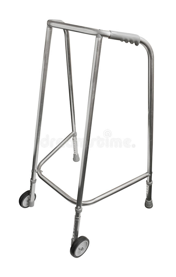 Wheeled walker. Used by elederly senior citizens and recovering patients to aid mobility stock photography