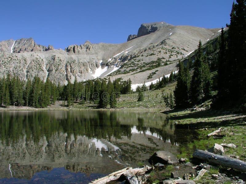 Wheeler Peak no parque nacional da grande bacia fotografia de stock