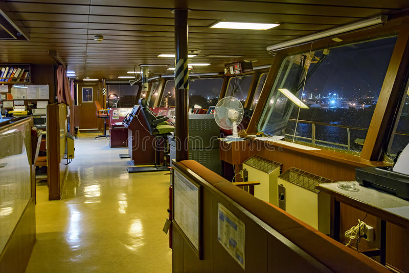Wheelhouse In Modern Ship Stock Photo - Image: 61863077