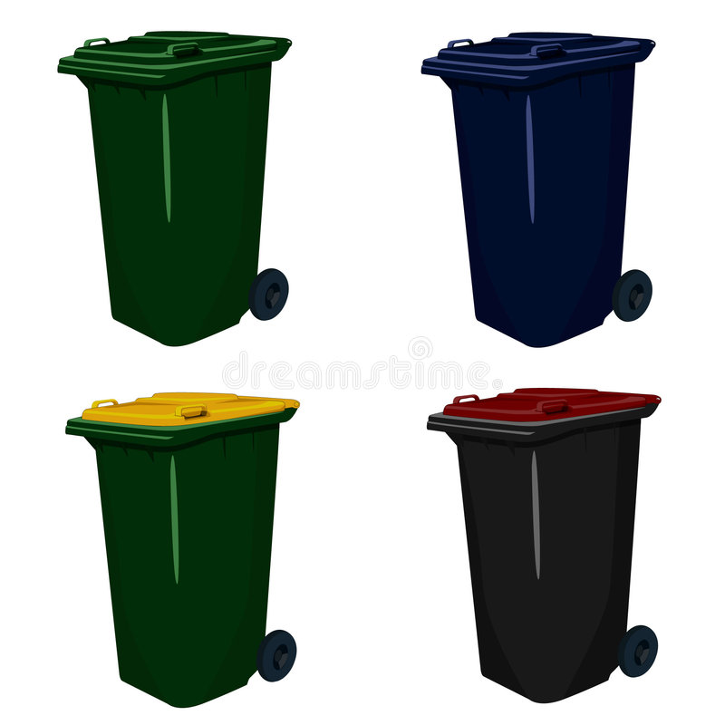 Download Wheelie Bins stock vector. Image of cartoon, municipal - 3181508