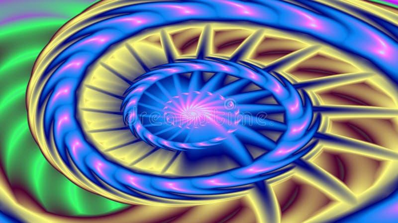 Wheelie espiral ilustración del vector
