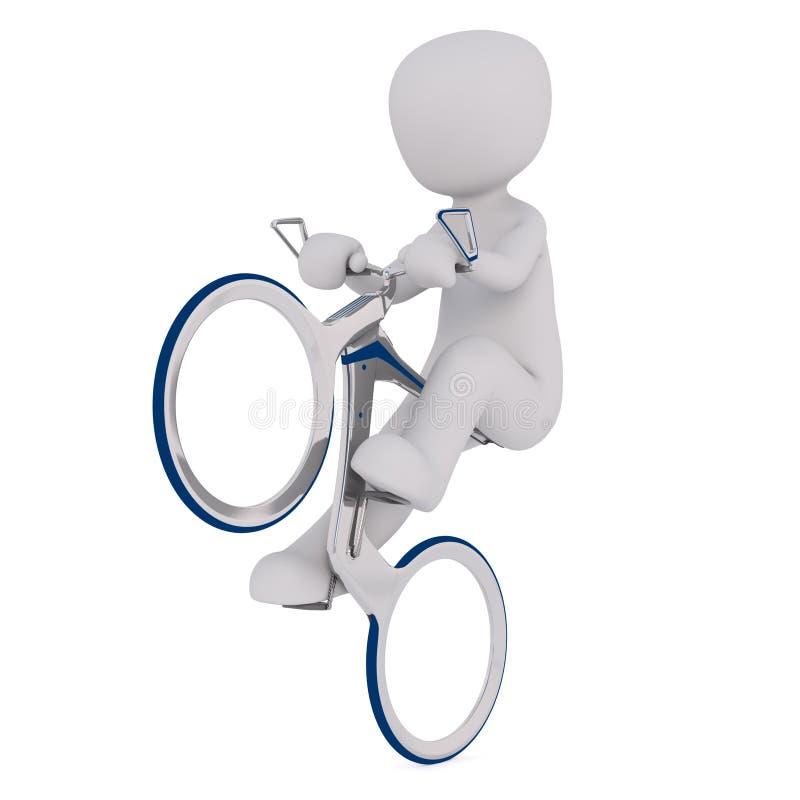 Wheelie op fietsconcept vector illustratie