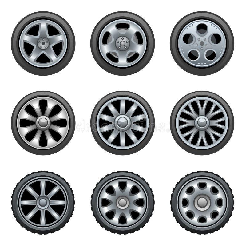 Download Wheels stock vector. Illustration of rubber, garage, racing - 16413187