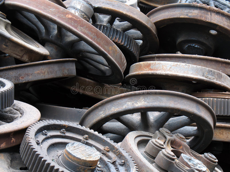 Download Wheels stock image. Image of machine, detail, decayed - 1641861