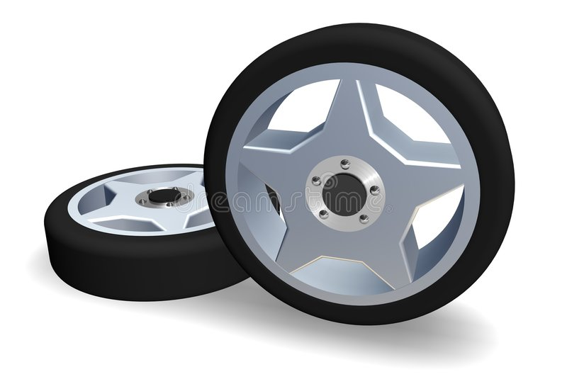 Download Wheels stock illustration. Image of isolated, move, circle - 224604