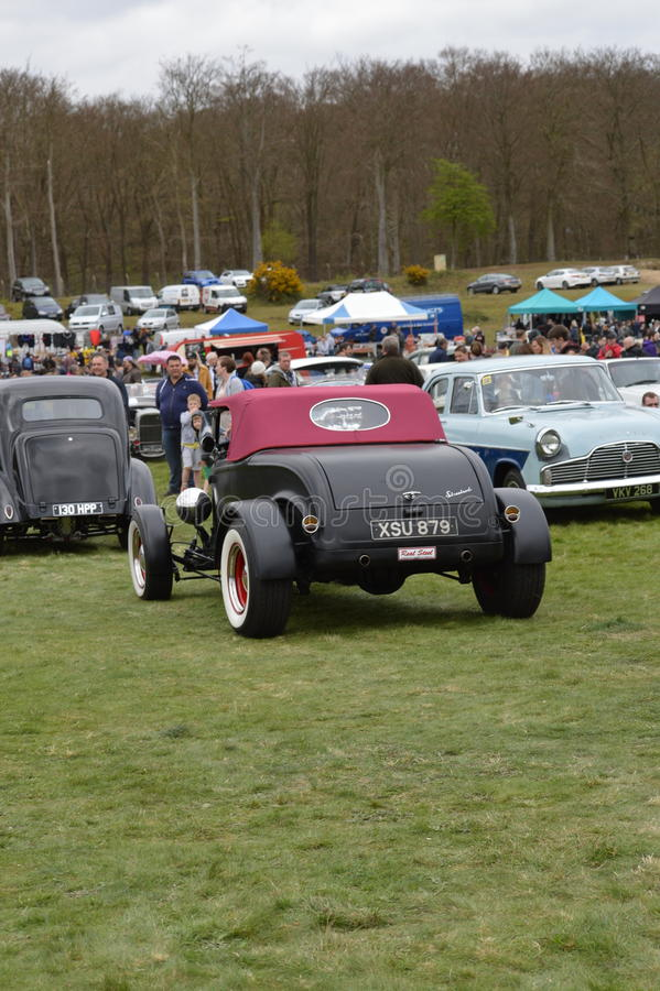 Wheels Day 2017 at the Rushmoor Arena. Annual Wheels Day event organised by the Surrey Street Rodders. Held at Rushmoor Arena clubs meet to display their hot stock image
