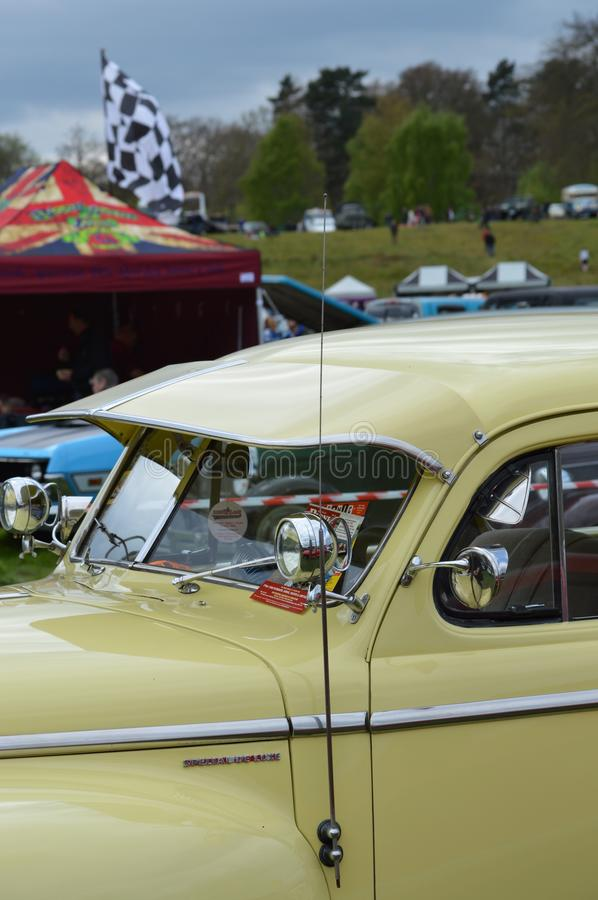 Wheels Day 2017 at the Rushmoor Arena. Annual Wheels Day event organised by the Surrey Street Rodders. Held at Rushmoor Arena clubs meet to display their hot royalty free stock image