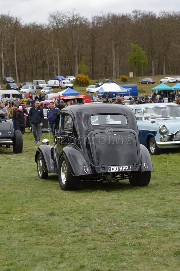 Wheels Day 2017 at the Rushmoor Arena. Annual Wheels Day event organised by the Surrey Street Rodders. Held at Rushmoor Arena clubs meet to display their hot stock photography