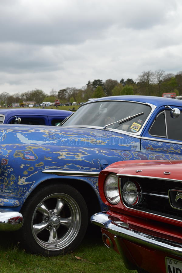 Wheels Day 2017 at the Rushmoor Arena. Annual Wheels Day event organised by the Surrey Street Rodders. Held at Rushmoor Arena clubs meet to display their hot royalty free stock images