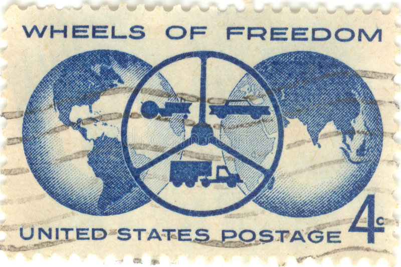 Wheels of Freedom Stamp