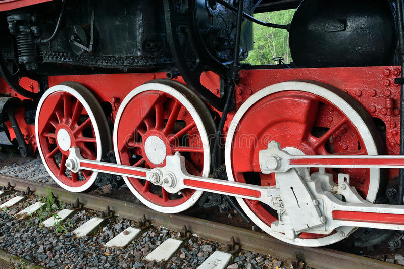 Download Wheels Of The Old Steam Locomotive Stock Photo - Image: 20387542