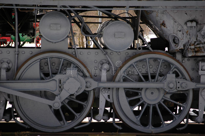Wheels of the old steam train royalty free stock photography