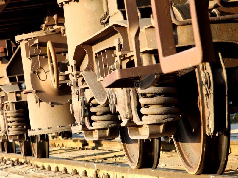 Wheels of train stock photography