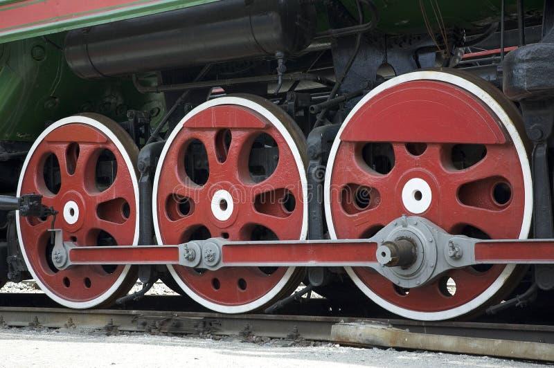 Wheels of train stock photos