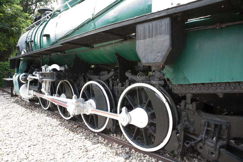 Wheels of the Train back and White royalty free stock photography