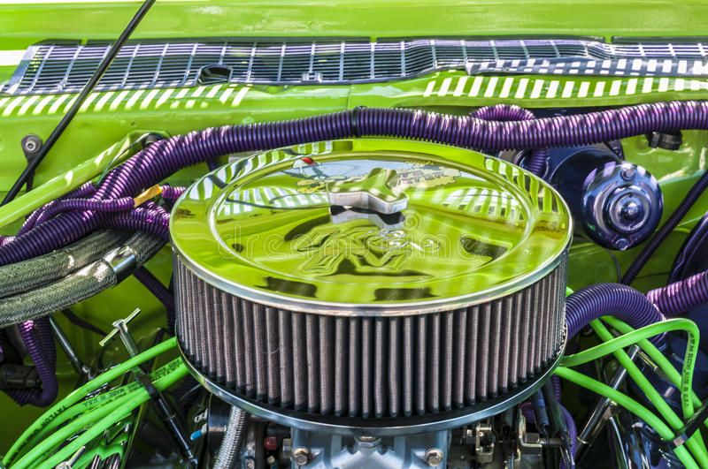 Download (wheels On Wyandotte) Green And Purple Engine Stock Photo - Image: 33839678